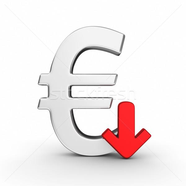 Falling euro currency Stock photo © rzymu