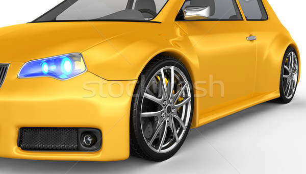 Sports car 3d face proiect metal viteză negru Imagine de stoc © rzymu