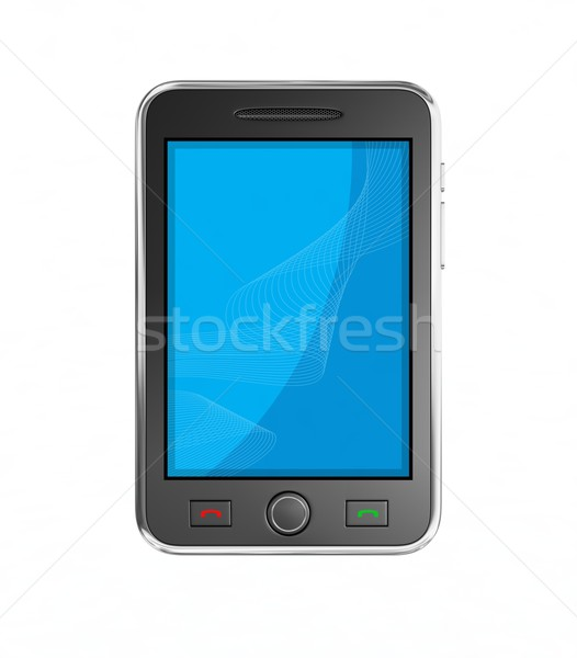 Black mobile smart phone. Stock photo © rzymu