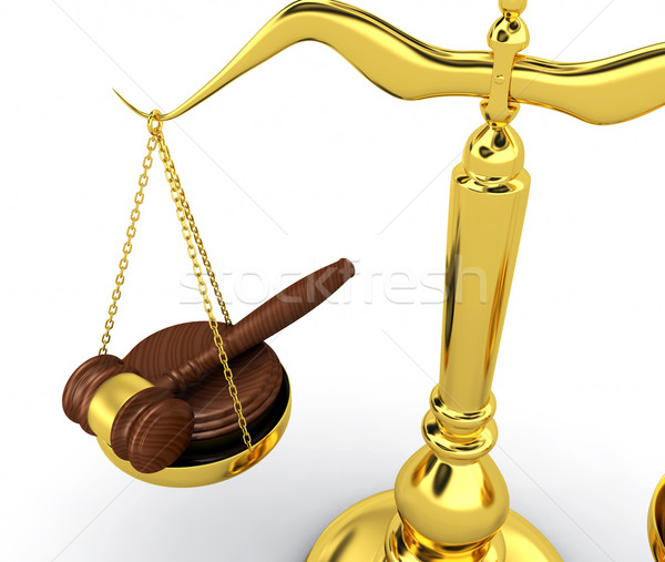 Escala 3d render teia lei juiz saldo Foto stock © rzymu