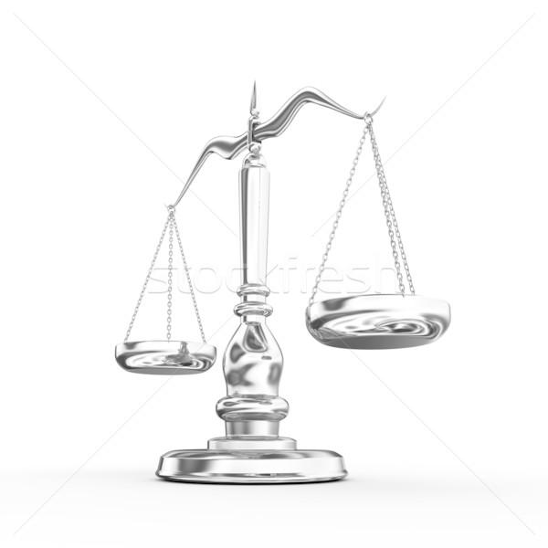 ölçek 3d render adalet yargıç suç ağırlık Stok fotoğraf © rzymu