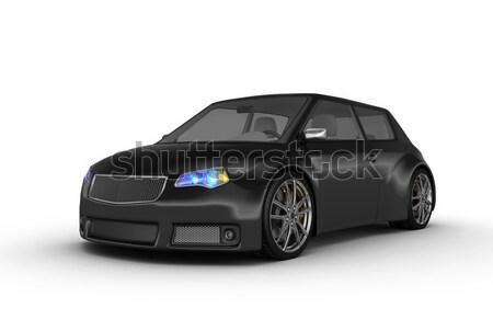Rendu 3d design métal vitesse noir Photo stock © rzymu