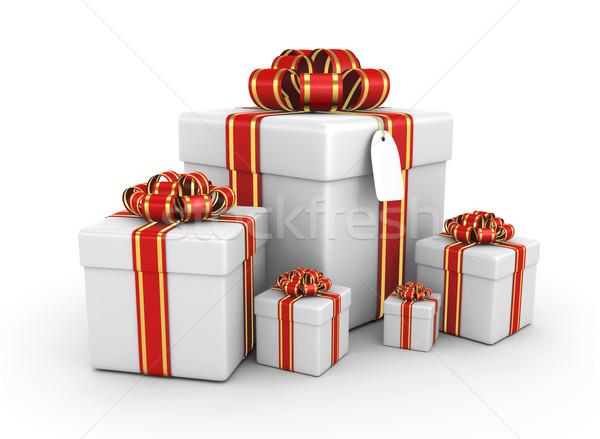 Geschenkdoos 3d render ontwerp achtergrond vak Stockfoto © rzymu