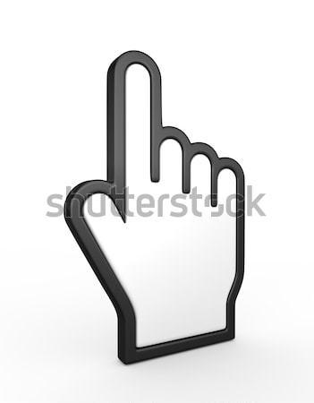 Hand cursor 3d render business computer muis Stockfoto © rzymu