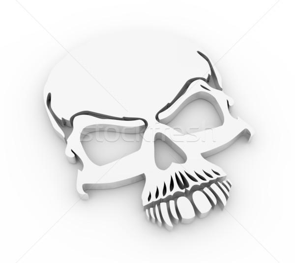 череп 3d визуализации знак рок смерти черный Сток-фото © rzymu