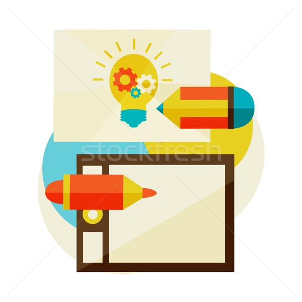 Creare idei nou inspiratie vector ilustrator Imagine de stoc © sabelskaya