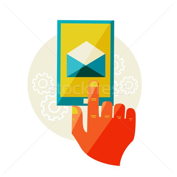 Posta mesaj sözleşme dizayn örnek modern Stok fotoğraf © sabelskaya