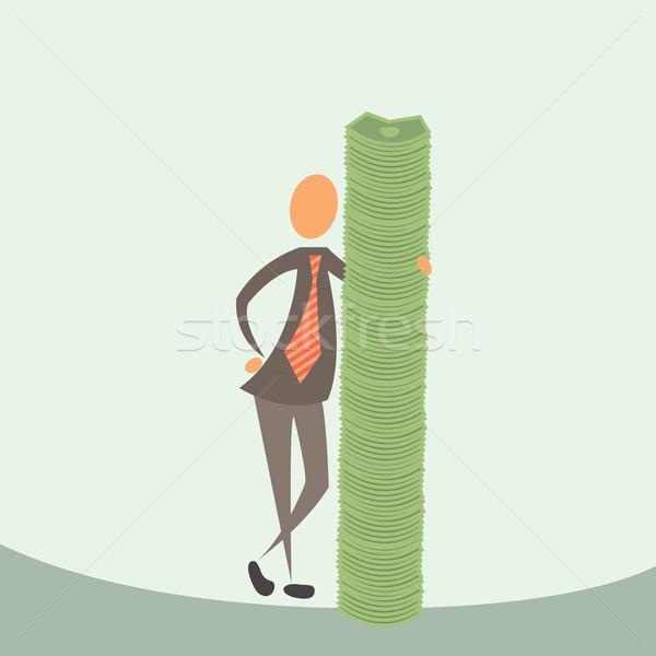 Geld mijn vrienden business gezicht financieren Stockfoto © sabelskaya