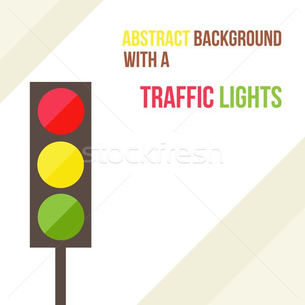 Résumé feux de circulation style rue autoroute couleur Photo stock © sabelskaya