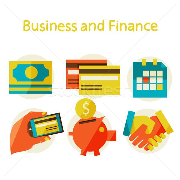 Business financieren ontwerp moderne stijlvol kleuren Stockfoto © sabelskaya