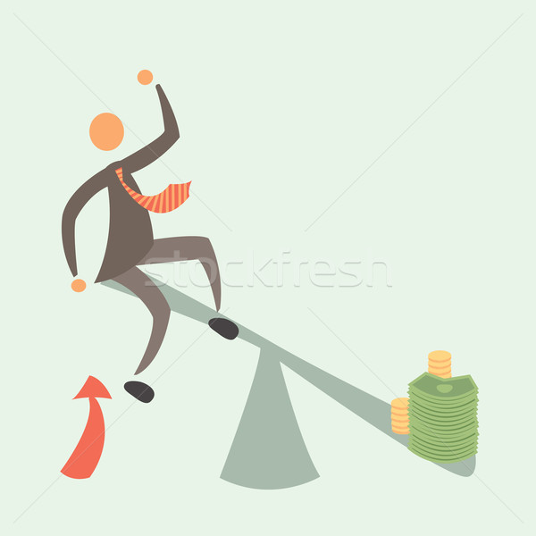 Balançar homem dinheiro desenvolvimento sucesso negócio Foto stock © sabelskaya