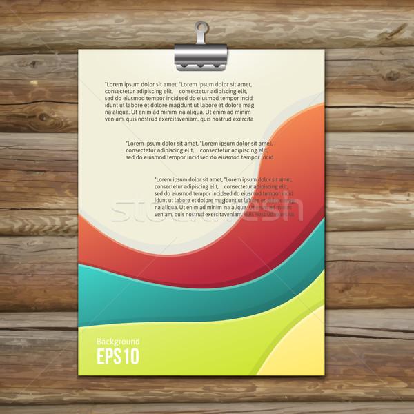 Folheto modelo projeto vetor vazio colorido Foto stock © sabelskaya