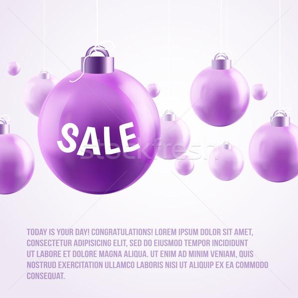 Roxo natal venda luz arcos Foto stock © sabelskaya