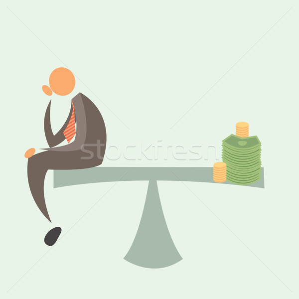Weight Scale Concepts. Wages Stock photo © sabelskaya