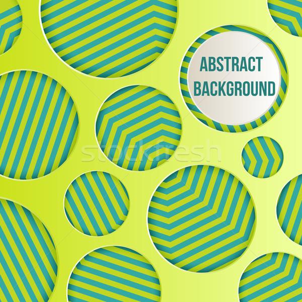 Resumen círculos colorido negocios papel textura Foto stock © sabelskaya