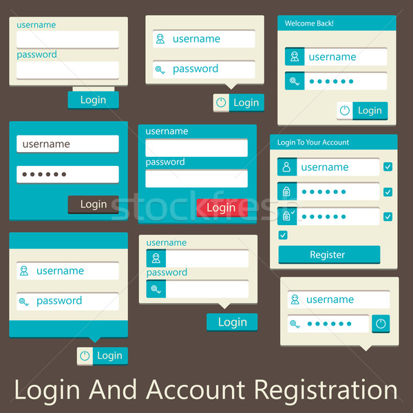 user interface login and account registration Stock photo © sabelskaya