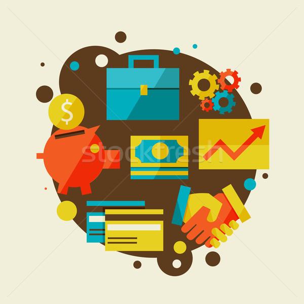 Financiar negócio projeto moderno elegante cores Foto stock © sabelskaya
