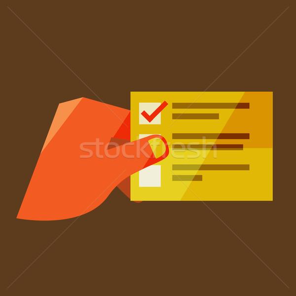 Man lijst ontwerp moderne stijlvol kleuren Stockfoto © sabelskaya