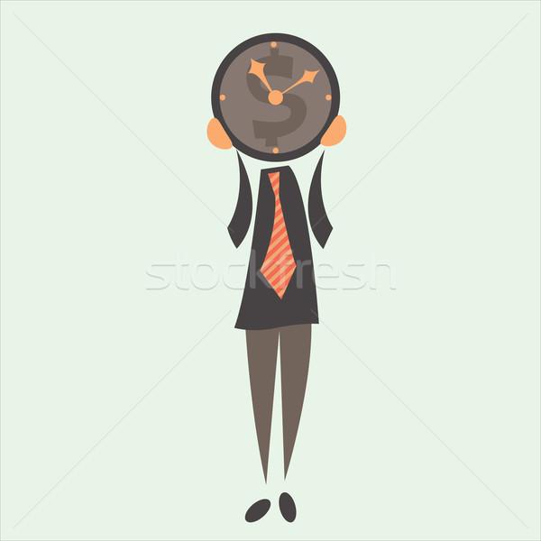 Geschäftsmann Zeit Zeit ist Geld Business Mann Arbeit Stock foto © sabelskaya