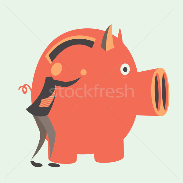 Güvenilir yatırımlar banka depolama eps 10 Stok fotoğraf © sabelskaya
