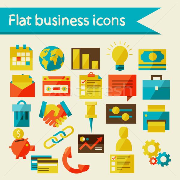 Negócio ícones eps 10 escritório dinheiro Foto stock © sabelskaya
