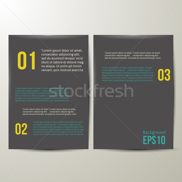 Modelo de design preto papel eps 10 projeto Foto stock © sabelskaya
