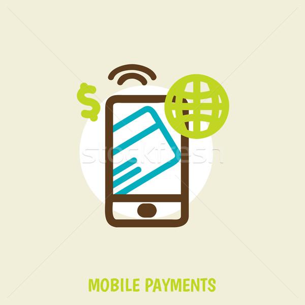 Moderno móvel cartão de crédito tela projeto Foto stock © sabelskaya