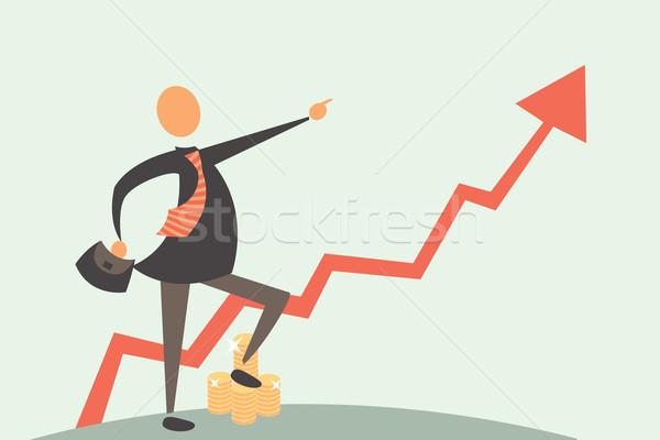 Arany beruházás jó befektetések eredmény munka Stock fotó © sabelskaya