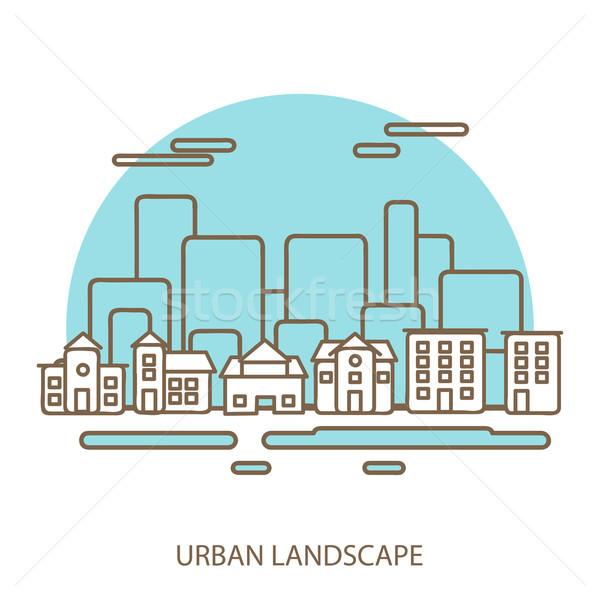 линейный городского пейзаж современных дизайна Сток-фото © sabelskaya