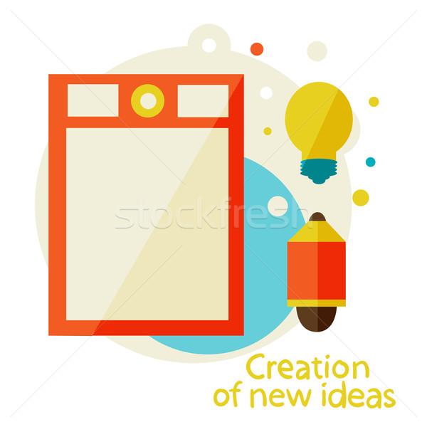 Gráfico comprimido novo idéias inspiração estilista Foto stock © sabelskaya