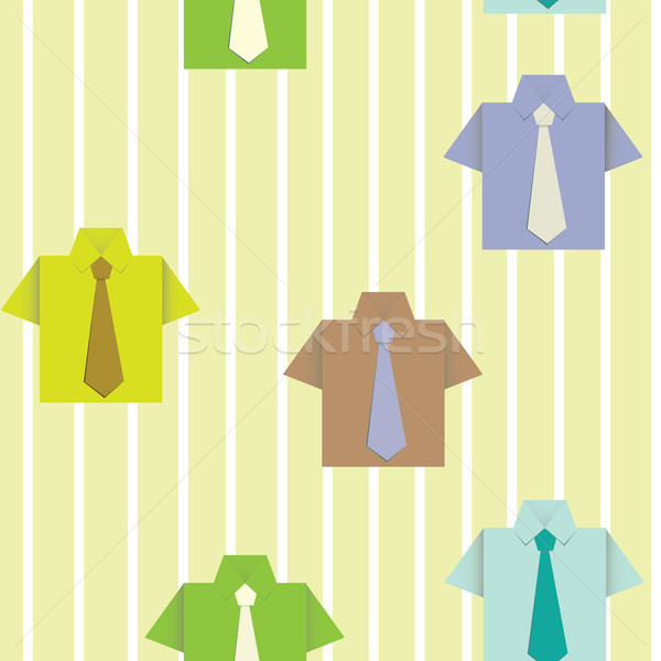Shirt naadloos papier behang textuur ontwerp Stockfoto © sabelskaya