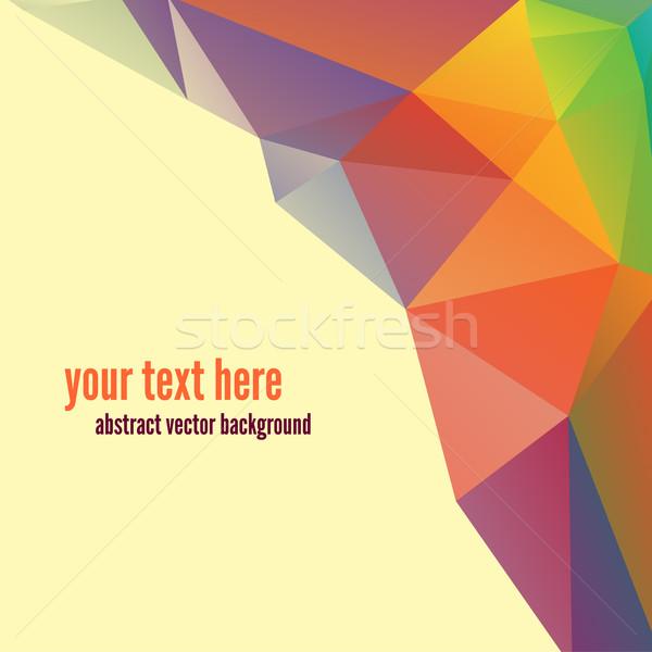 Meetkundig abstract kleurrijk vector business Stockfoto © sabelskaya