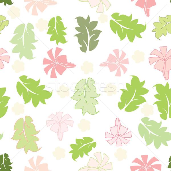 Bloemen blad leuk schilderij weefsel Stockfoto © sabelskaya