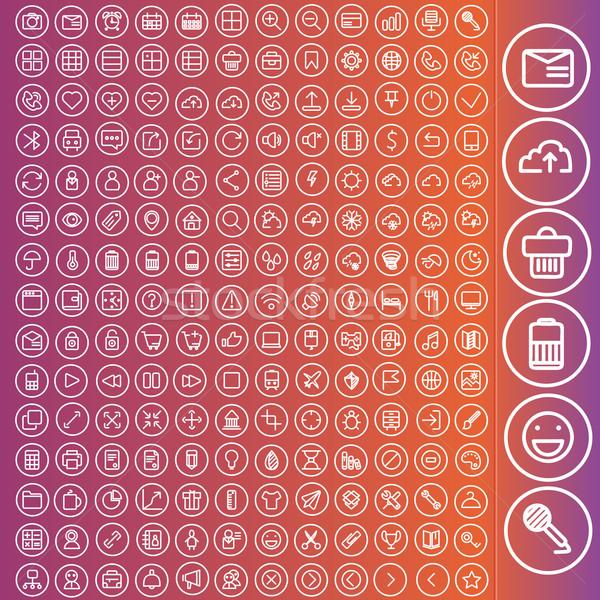 Vetor conjunto ícones teia usuário interface Foto stock © sabelskaya