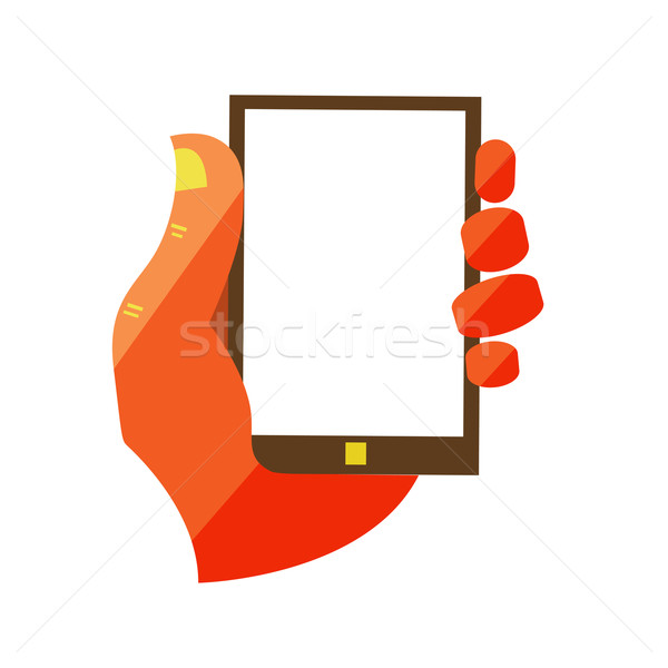 El dokunmatik ekran cep telefonu dizayn modern Stok fotoğraf © sabelskaya