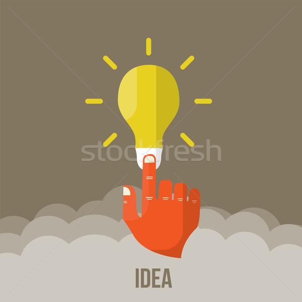 Bulbo ícone inovação idéia vetor eficaz Foto stock © sabelskaya