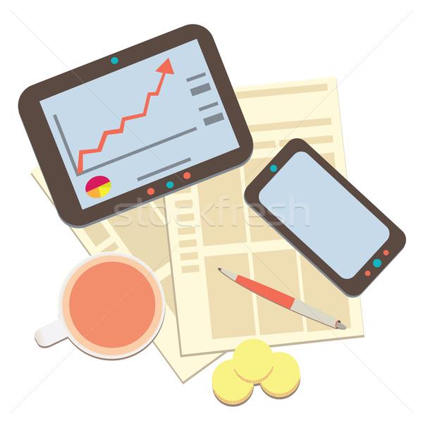 modern business and statistics 2 Stock photo © sabelskaya