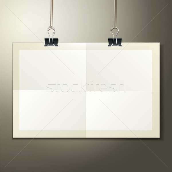 Vector template of a paper sheet -poster, picture frame Stock photo © sabelskaya