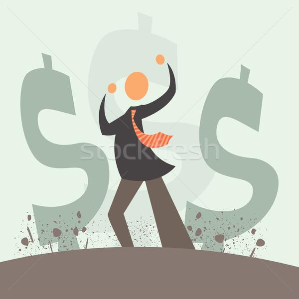 Monetair explosie vector geld groei reusachtig Stockfoto © sabelskaya