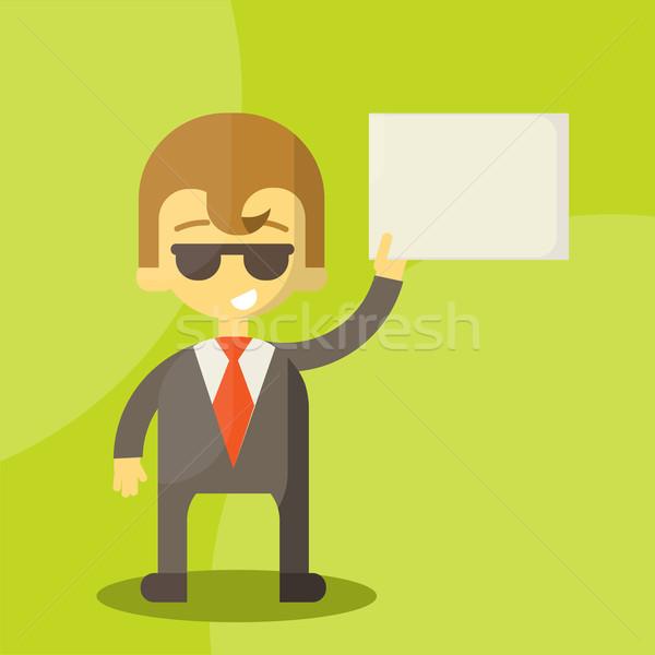 Engraçado desenho animado gerente negócio escritório Foto stock © sabelskaya