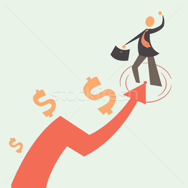 Lucro homem de negócios gráfico negócio financiar Foto stock © sabelskaya