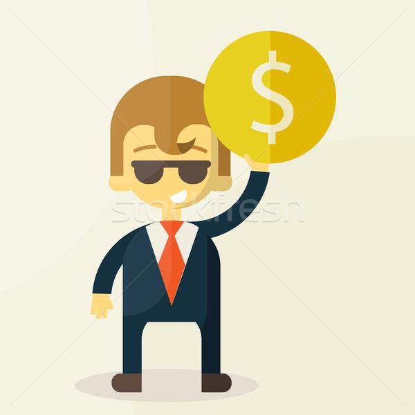 Dinero hombre mano moderna negocios empresario Foto stock © sabelskaya