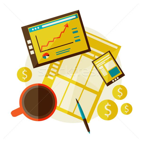 Ilustração moderno negócio estatística vetor eps Foto stock © sabelskaya