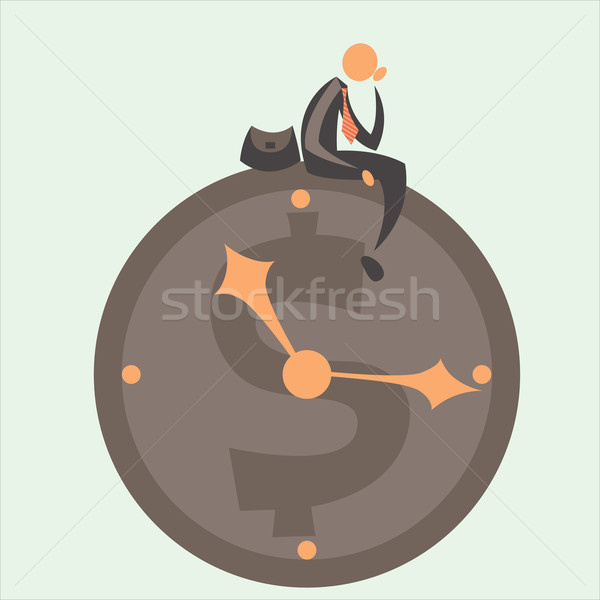 Tiempo negocios trabajo ejecutar pensar empate Foto stock © sabelskaya