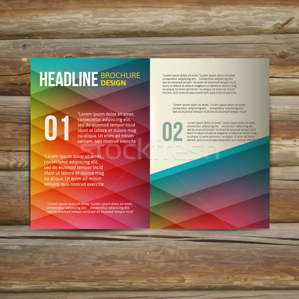 brochure template design Stock photo © sabelskaya