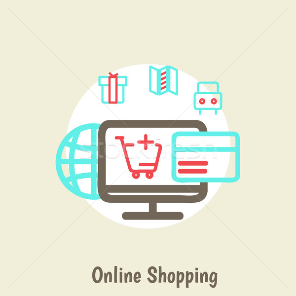 infographics background E-commerce Stock photo © sabelskaya