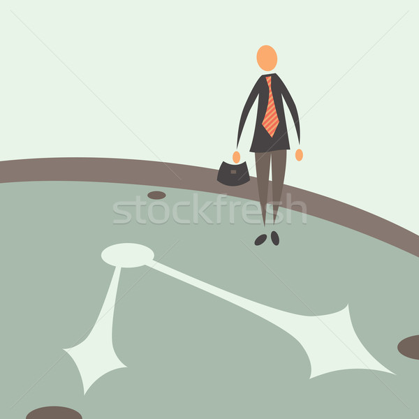 Tijd zakenman bewaker plicht tijd is geld business Stockfoto © sabelskaya