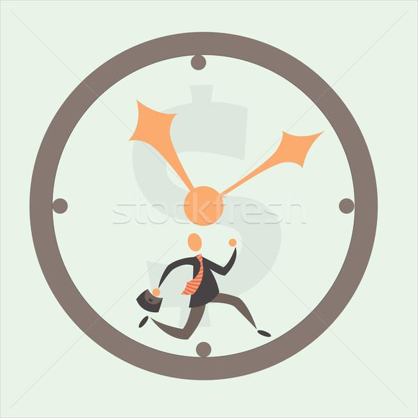 Zeit ist Geld Geschäftsmann Zeit Business Mann Arbeit Stock foto © sabelskaya