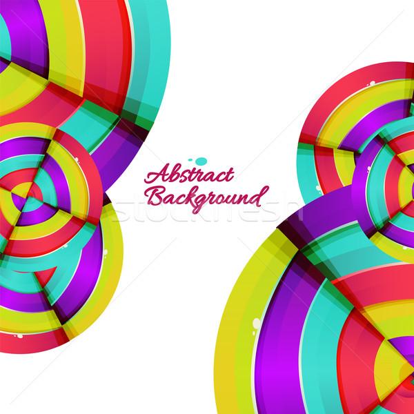 Abstrato colorido arco-íris curva projeto luz Foto stock © sabelskaya