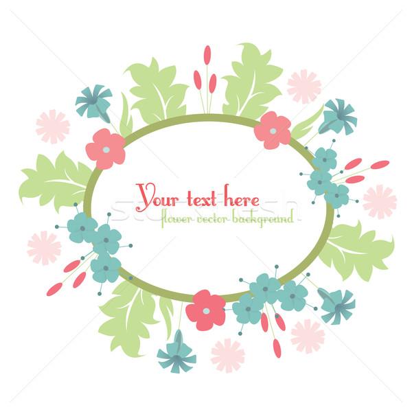 cute floral design background Stock photo © sabelskaya